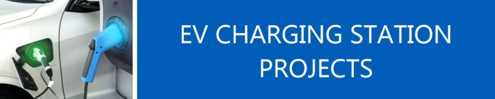 Image of electric car charging titled E V Charging Station Projects