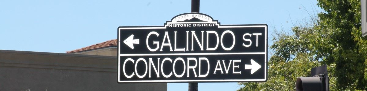 Street sign at Concord and Salvio