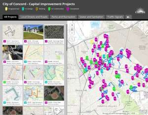 CIP Capital improvement project map