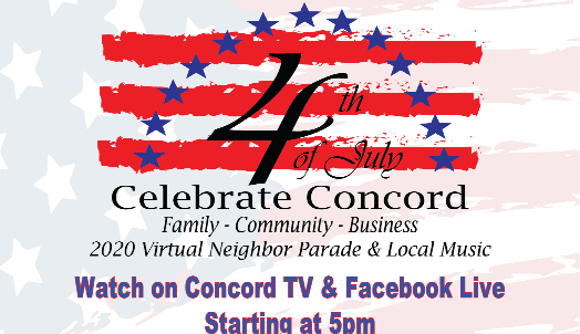 concord 4th of July graphic