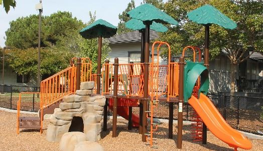 orange and green kids playground