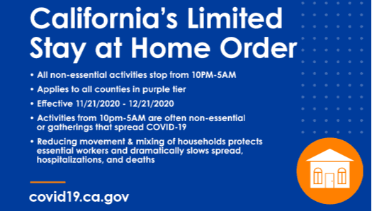 graphic announcing stay at home order
