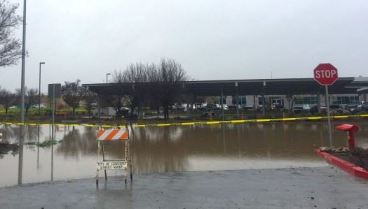 Flooding parking lot