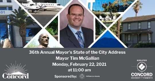 Concord Mayor Tim McGallian advertisement for State of the City event
