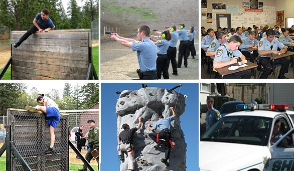 Police Cadets Training in the Field and in the Classroom