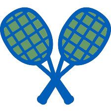 Green and Blue Rackets
